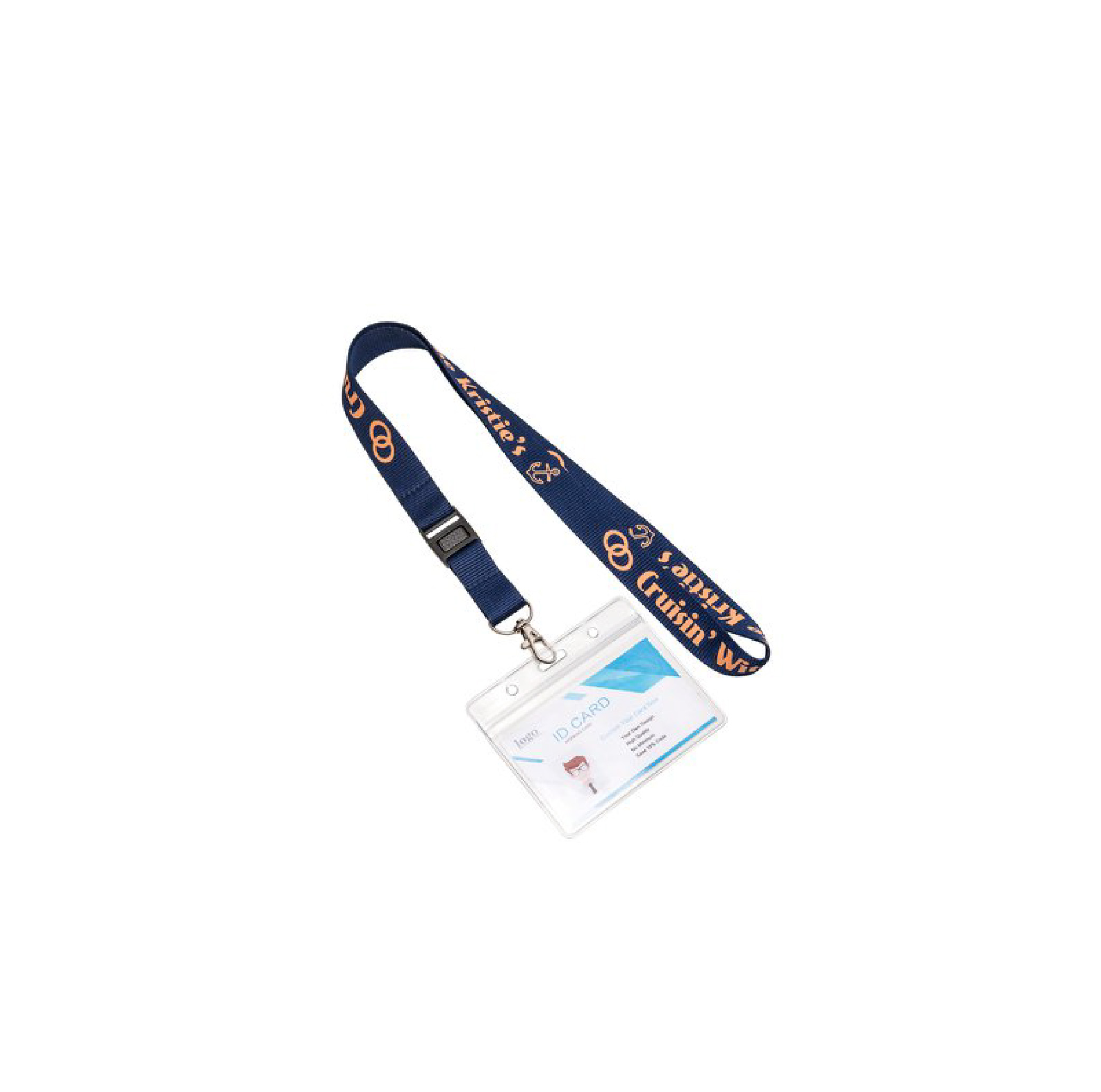 1 Color Polyester Lanyard with Buckle Strap