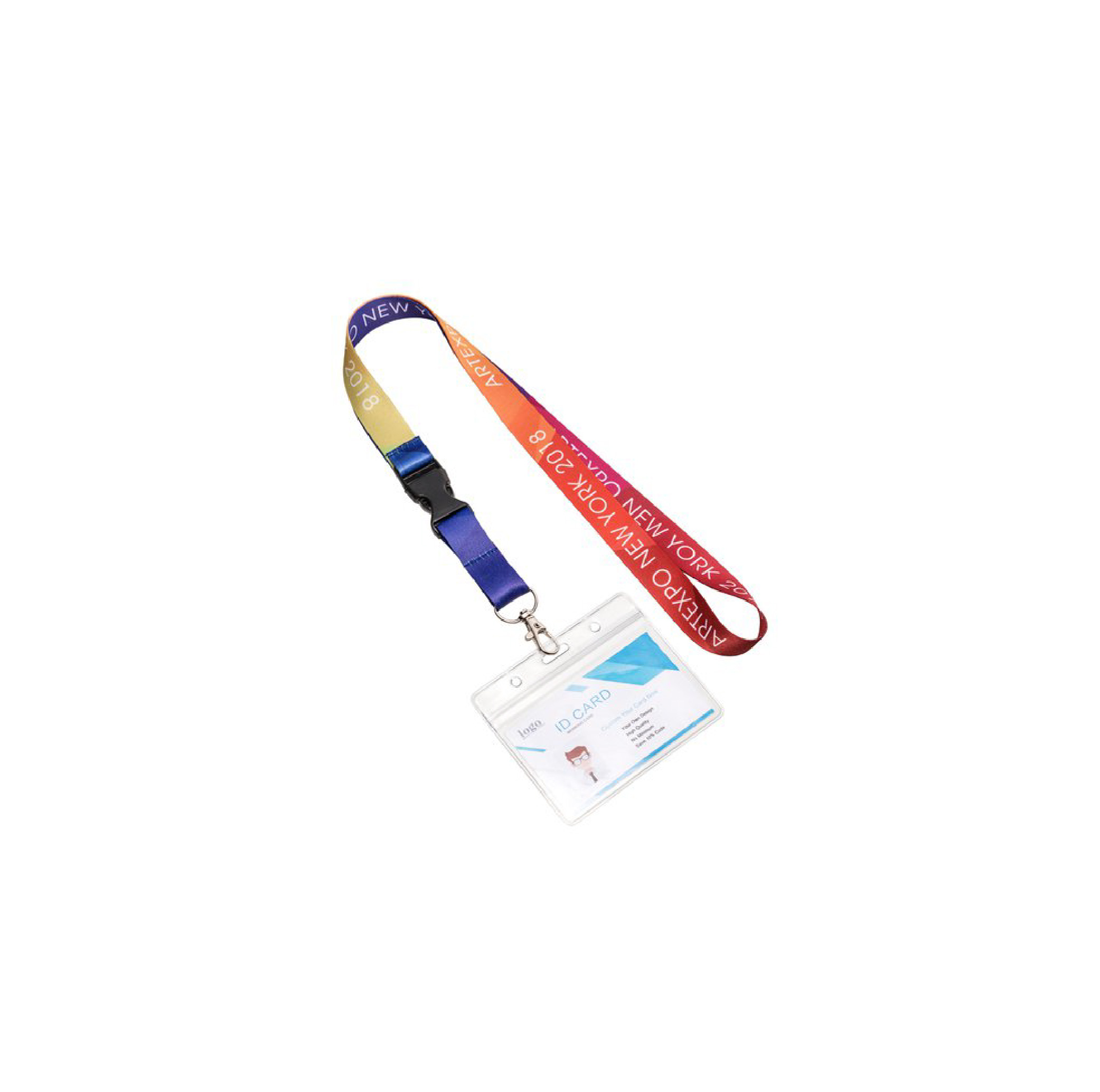 Full Color Lanyard With Plastic Buckle