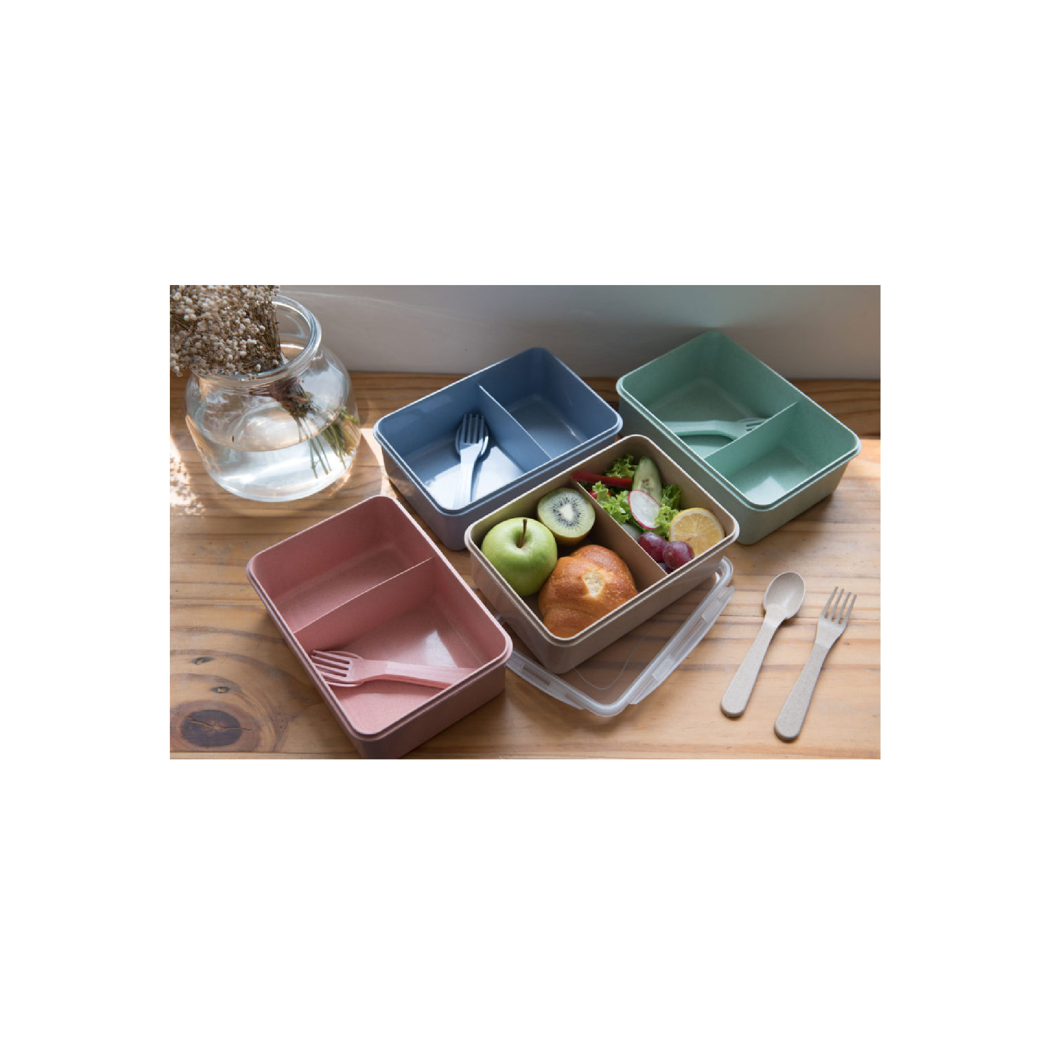 Eco lunch box with Divider
