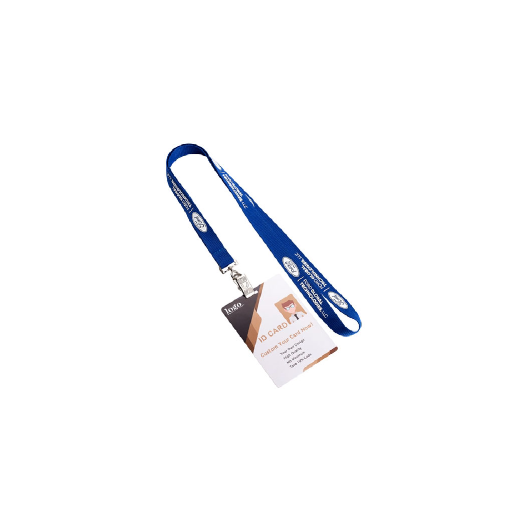 1 Color Polyester Lanyard with Metal Clip