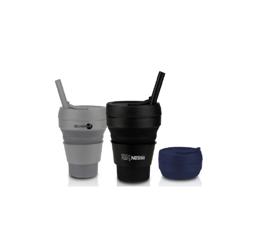 Collapsible Cup with Straw